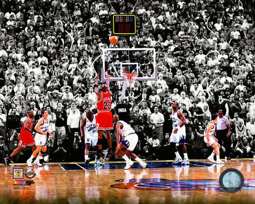 Michael Jordan Last Shot for the Chicago Bulls, 1998 NBA Finals Photo - Dynasty Sports & Framing  - 1