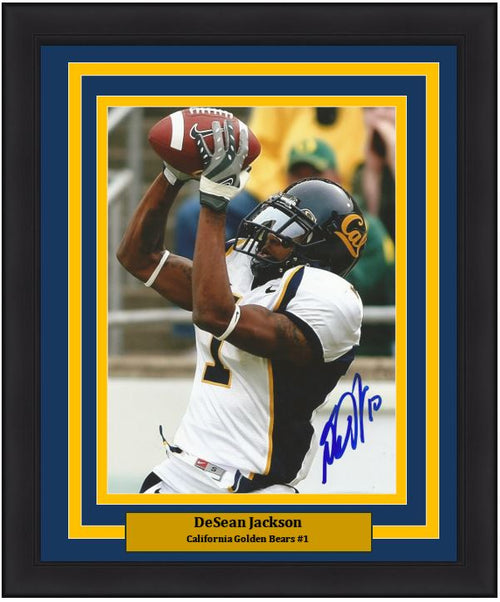 "DeSean Jackson in Action California Golden Bears Autographed NCAA College Football 8"" x 10"" Framed and Matted Photo"