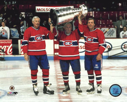 "Jean Beliveau, Maurice Richard, & Guy Lafleur Montreal Canadiens 8"" x 10"" Hockey Photo - Dynasty Sports & Framing"