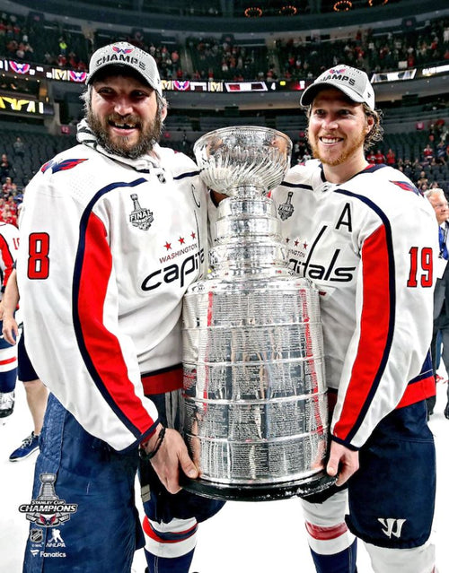 Alex Ovechkin & Nicklas Backstrom Washington Capitals 2018 Stanley Cup Champions 8x10 Hockey Photo - Dynasty Sports & Framing