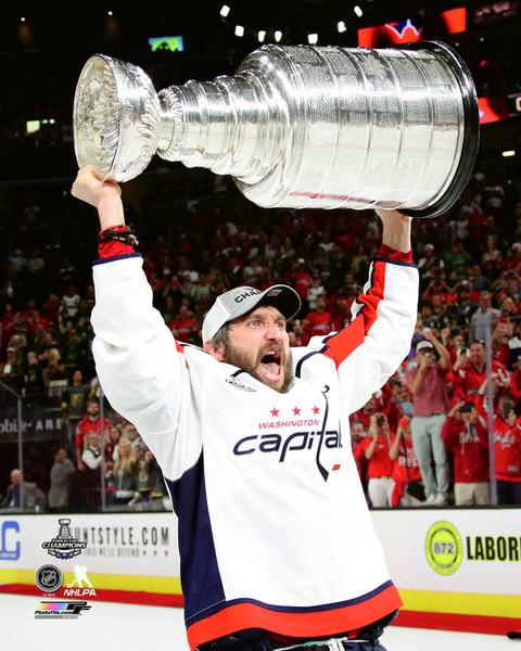 "Washington Capitals 2018 Stanley Cup Champions Alex Ovechkin NHL Hockey 8"" x 10"" Photo - Dynasty Sports & Framing"
