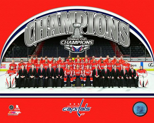 "Washington Capitals 2018 Stanley Cup Champions Team Roster Line-Up NHL Hockey 8"" x 10"" Photo"
