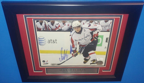 "Washington Capitals Alex Ovechkin Autographed NHL Hockey 8"" x 10"" Framed and Matted Photo"