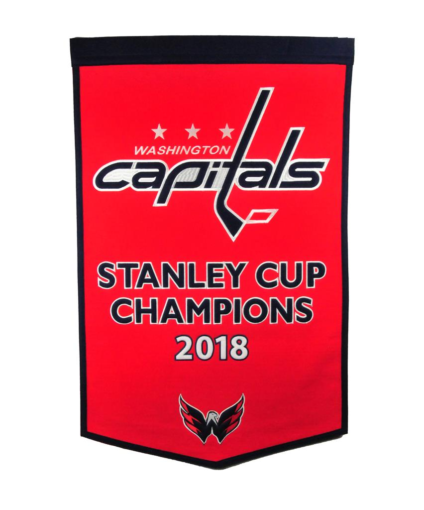 washington capitals 2018 stanley cup champions dynasty banner nhl