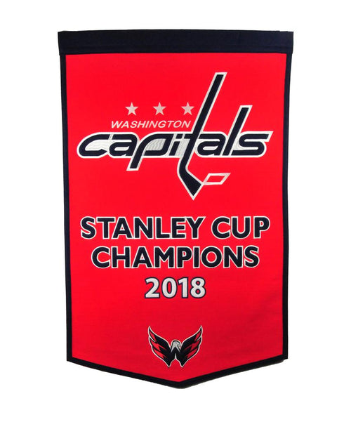 Washington Capitals 2018 Stanley Cup Champions NHL Hockey Wool Dynasty Banner