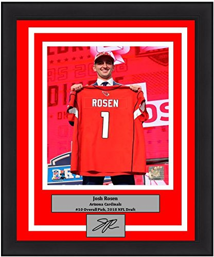 "Arizona Cardinals Josh Rosen 2018 Draft Engraved Autograph NFL Football 8"" x 10"" Framed & Matted Photo (Dynasty Signature Collection)"