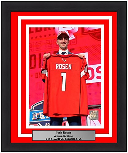 "Josh Rosen Arizona Cardinals 2018 Draft NFL Football 8"" x 10"" Framed and Matted Photo - Dynasty Sports & Framing"