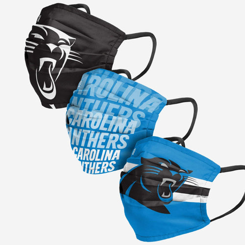 Carolina Panthers 3-Pack Match Day Face Mask Covers - Dynasty Sports & Framing