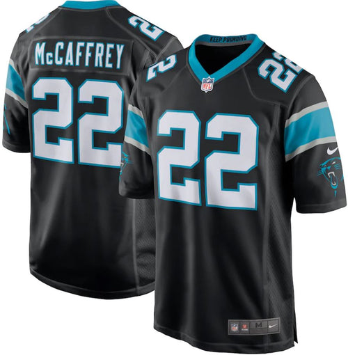 Christian McCaffrey Carolina Panthers Nike Black Player Jersey