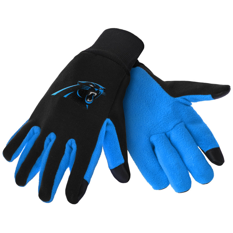 Carolina Panthers NFL Football Texting Gloves - Dynasty Sports & Framing