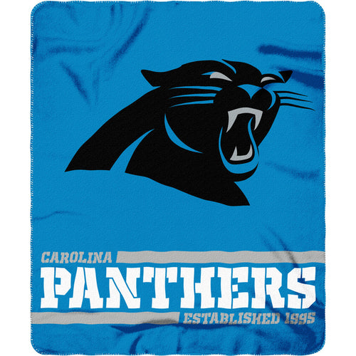 "Carolina Panthers NFL Football 50"" x 60"" Split Wide Fleece Blanket - Dynasty Sports & Framing"