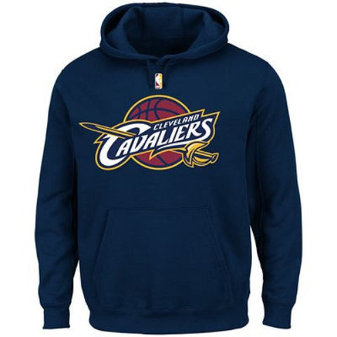 Cleveland Cavaliers Majestic Navy Current Logo Tech Patch Pullover Hoodie - Dynasty Sports & Framing