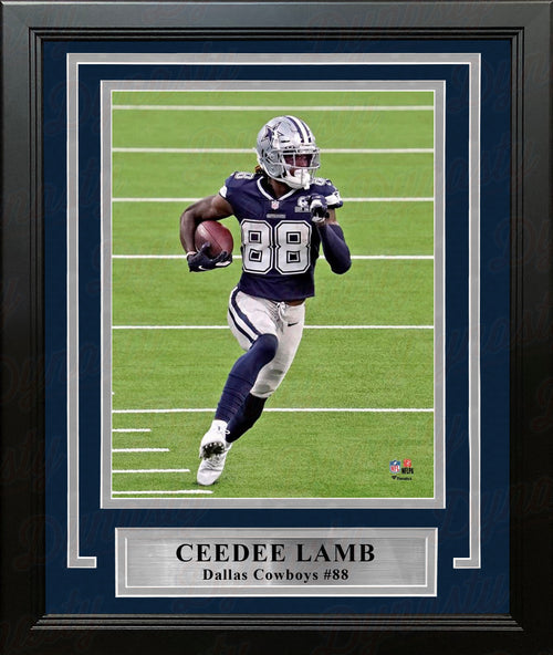 "CeeDee Lamb in Action Dallas Cowboys 8"" x 10"" Framed Football Photo - Dynasty Sports & Framing"