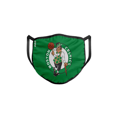 Boston Celtics Solid Big Logo Face Cover Mask - Dynasty Sports & Framing