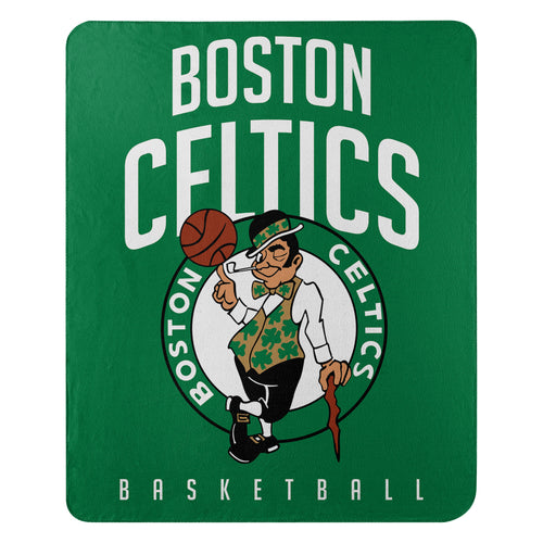 "Boston Celtics NBA Basketball 50"" x 60"" Layup Fleece Blanket - Dynasty Sports & Framing"