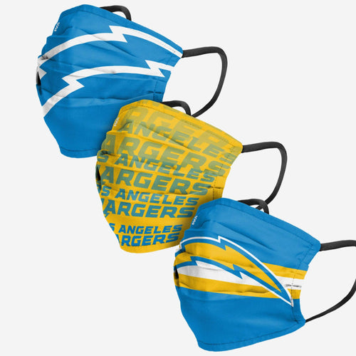 Los Angeles Chargers 3-Pack Match Day Face Mask Covers - Dynasty Sports & Framing