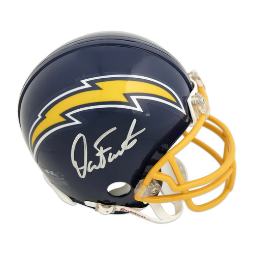 Dan Fouts San Diego Chargers Autographed NFL Football Throwback Mini-Helmet