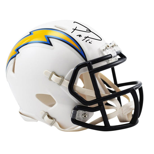 Philip Rivers Los Angeles Chargers Autographed NFL Football Speed Mini-Helmet - Dynasty Sports & Framing