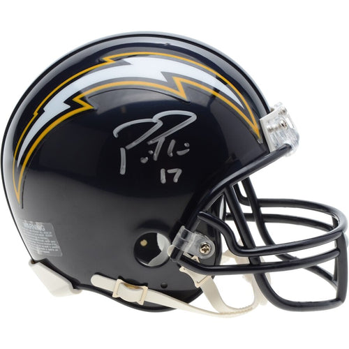 Philip Rivers San Diego Chargers Autographed NFL Football Throwback Mini-Helmet