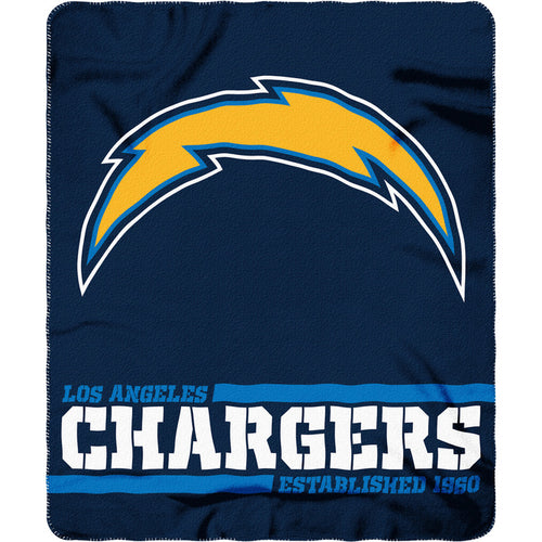 "Los Angeles Chargers NFL Football 50"" x 60"" Split Wide Fleece Blanket - Dynasty Sports & Framing"