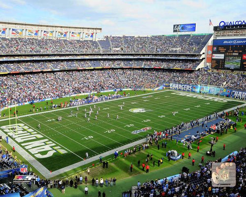 "San Diego Chargers Qualcomm Stadium NFL Football 8"" x 10"" Photo"