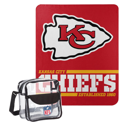 "Kansas City Chiefs Dream Team Tote with 50"" x 60"" Fleece Throw Blanket - Dynasty Sports & Framing"