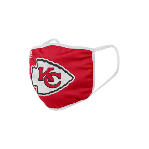 Kansas City Chiefs Solid Big Logo Face Cover Mask - Dynasty Sports & Framing