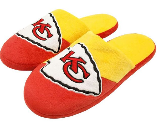 Kansas City Chiefs Colorblock Big Logo Slippers - Dynasty Sports & Framing