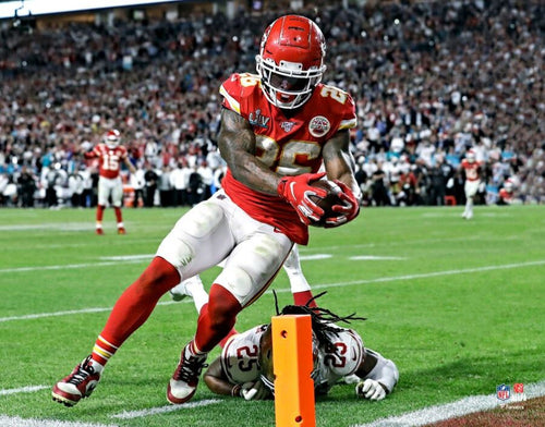 "Damien Williams Game-Winning Touchdown Super Bowl LIV Kansas City Chiefs 8"" x 10"" Football Photo - Dynasty Sports & Framing"