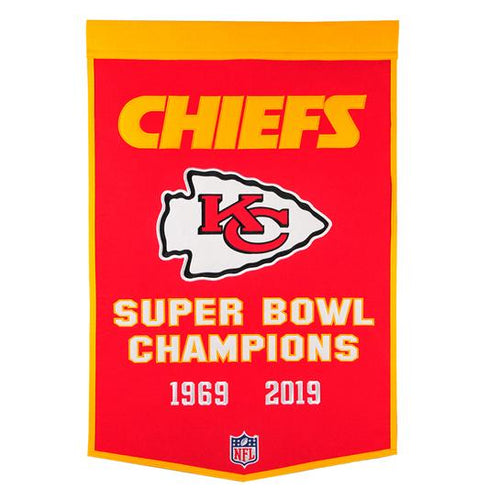 Kansas City Chiefs NFL Dynasty Banner - Dynasty Sports & Framing