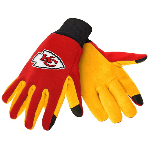 Kansas City Chiefs NFL Football Texting Gloves - Dynasty Sports & Framing