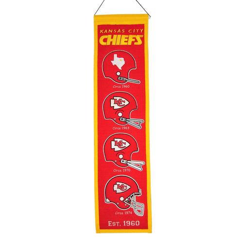 Kansas City Chiefs NFL Heritage Banner - Dynasty Sports & Framing