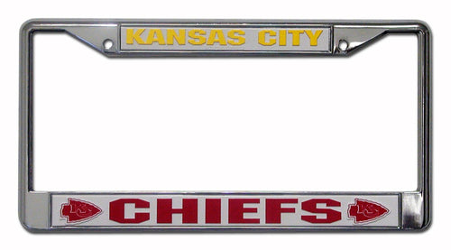 Kansas City Chiefs NFL Football Chrome License Plate Frame - Dynasty Sports & Framing