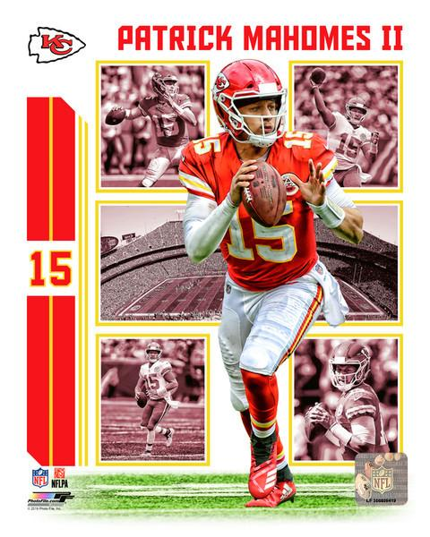 "Patrick Mahomes Player Collage Kansas City Chiefs NFL Football 8"" x 10"" Photo"