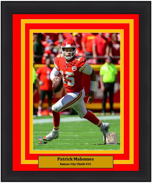 "Patrick Mahomes in Action Kansas City Chiefs 8"" x 10"" Framed Football Photo - Dynasty Sports & Framing"