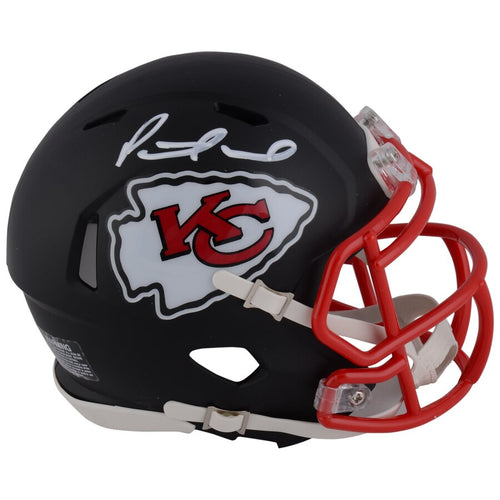 Patrick Mahomes Kansas City Chiefs Autographed NFL Football Black Matte Speed Mini-Helmet