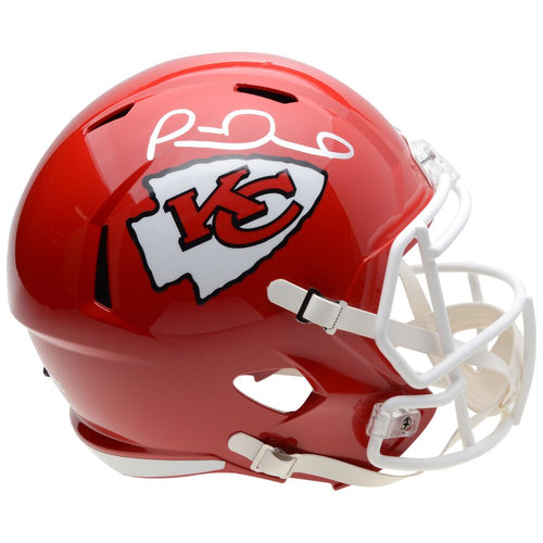 Patrick Mahomes Kansas City Chiefs Autographed NFL Football Full-Size Speed Replica Helmet