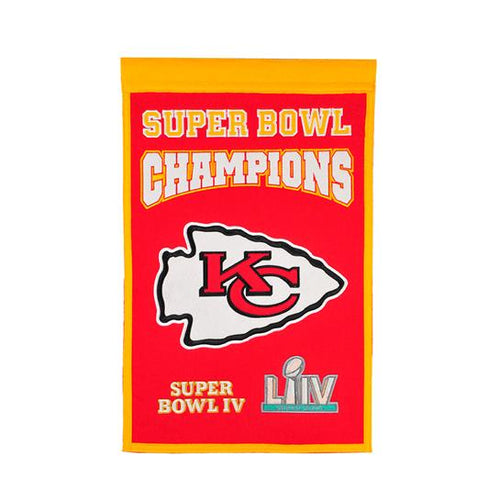 "Kansas City Chiefs Super Bowl LIV Champions 14"" x 22"" Banner - Dynasty Sports & Framing"