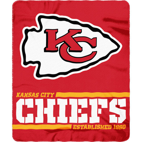 "Kansas City Chiefs NFL Football 50"" x 60"" Split Wide Fleece Blanket - Dynasty Sports & Framing"