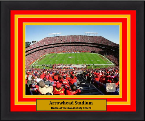 "Kansas City Chiefs Arrowhead Stadium NFL Football 8"" x 10"" Framed and Matted Photo"