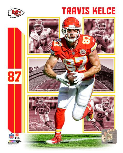 "Travis Kelce Player Collage Kansas City Chiefs NFL Football 8"" x 10"" Photo"