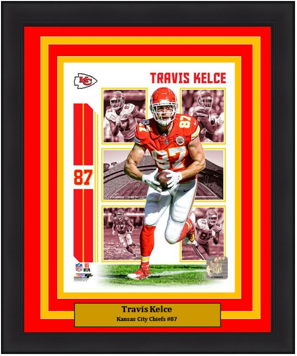 promo code bed48 507b9 Travis Kelce Player Collage Kansas City Chiefs NFL Football 8