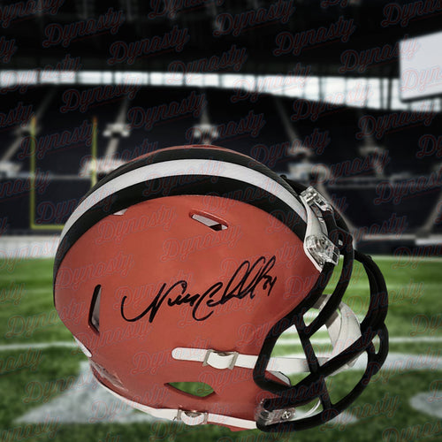 Nick Chubb Cleveland Browns Autographed Mini-Helmet - Dynasty Sports & Framing