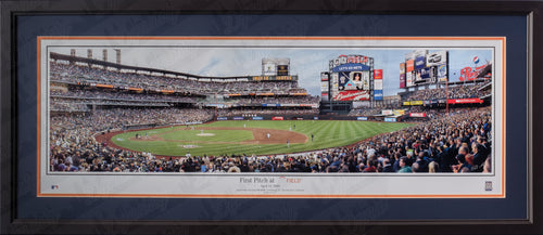New York Mets First Pitch at Citi Field MLB Baseball Rob Arra Framed and Matted Stadium Panorama - Dynasty Sports & Framing