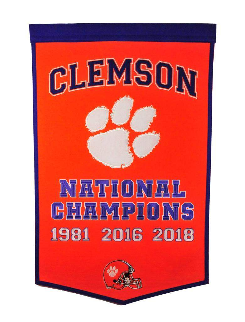 Clemson Tigers NCAA Dynasty Banner - Dynasty Sports & Framing
