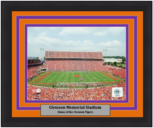 "Clemson Tigers Clemson Memorial Stadium NCAA College Football 8"" x 10"" Framed and Matted Photo"