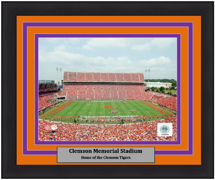 "Clemson Tigers Clemson Memorial Stadium 8"" x 10"" Framed College Football Photo - Dynasty Sports & Framing"