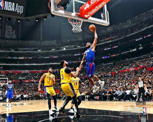 "Kawhi Leonard Lay-Up Los Angeles Clippers 8"" x 10"" Basketball Photo - Dynasty Sports & Framing"