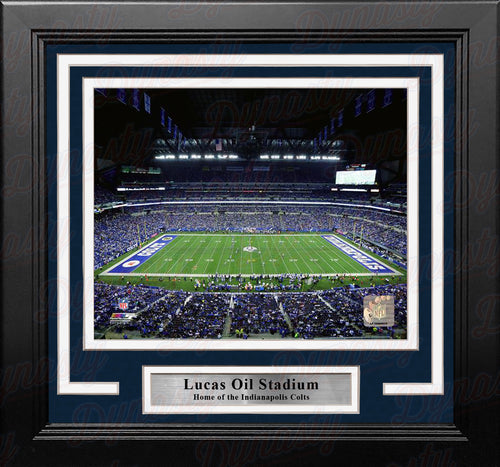 "Indianapolis Colts Lucas Oil Stadium NFL Football 8"" x 10"" Framed and Matted Photo - Dynasty Sports & Framing"