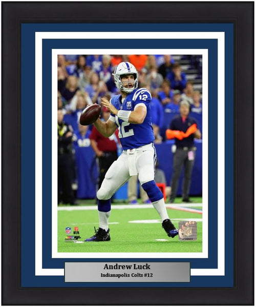 "Indianapolis Colts Andrew Luck NFL Football 8"" x 10"" Framed and Matted Photo - Dynasty Sports & Framing"